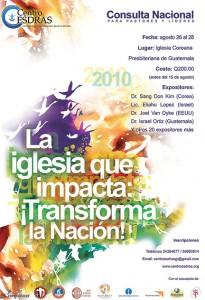 Afiche Consulta Iglesia que impacta 2010-2